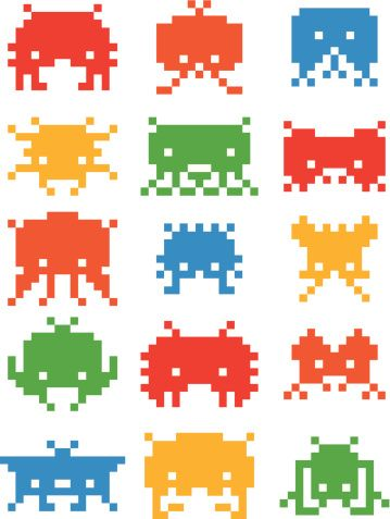 Space Invader Pixel Aliens