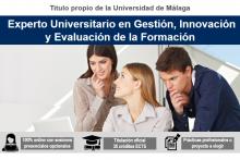 Cartel Experto Universitario en Gestión, Innovación y Evaluación de la Formación UMA