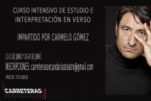 CURSO INTENSIVO DE ESTUDIO E INTERPRETACIÓN EN VERSO CON CARMELO GOMEZ