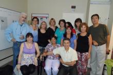 Estudiantes en el Centro Círculo Azul de Buenos Aires