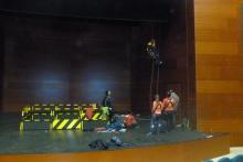 Riggers, escenarios, teatros, auditorios, gradas