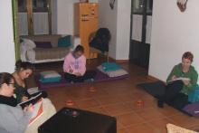 Clase de relajación y meditación