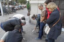 Alumnos Gigahertz haciendo prácticas en la calle