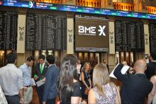 Acto de Clausura Curso de Bolsa en el Palacio de la Bolsa de Madrid