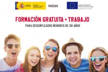 FORMACIÓN + TRABAJO gratuito para desempleados menores de 30 años