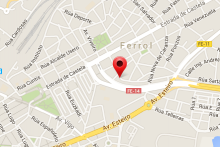 Mapa-Ubicación-C/ Sanchez Calviño 34-36 Entlo. A 15404 Ferrol