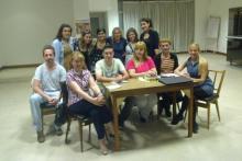 El profesorado y grupo de estudiantes