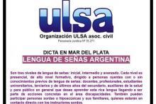 Niveles inicial, intermedio y avanzado de Lengua de Señas Argentina