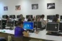 Aula de curso de animación 3d