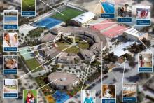 Vista aérea del Centro de Formación Integral Colegio San Jorge.