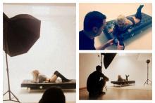 Sesión de fotografía de Moda en estudio.