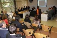 En el aula de conferencias se desarrollan los proyectos fin de carrera y la presentación de las cadenas hoteleras para las prácticas.