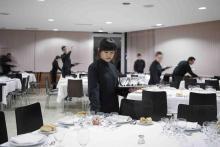 Los futuros directivos pasan por el aula Sala del restaurante Buffet