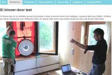 Muesta de un test de blower door en el curso CPE Madrid 2013