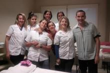 Alumnas del curso de tratamientos estéticos corporales