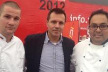 En el concurso Internacional de Tapas de Valladolid.