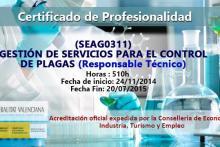 C.P. Responsable Técnico Control de Plagas