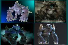 Criaturas en proceso de ZBrush