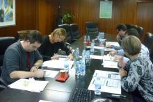 Alumnos durante una convocatoria anterior de cursos de calidad