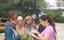 preparando visita en La Albufera