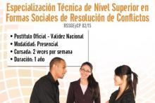 Especialización Técnica de Nivel Superior en Formas Sociales de Resolución de Conflictos