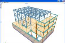 estructura mixta: hormigón + metal