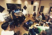 Alumnos Técnico de sonido en el Estudio de Grabación