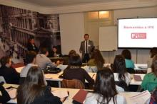 Aula de la Escuela de Negocios IFFE Business School en Oleiros, A Coruña, Galicia