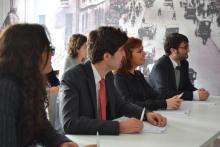 Alumnos durante las clases en la Escuela de Negocios IFFE Business School en Oleiros, A Coruña, Galicia