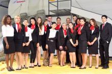 Alumnos Esatur Curso TCP en Simulador de Vuelo Air Europa