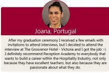Hospitality Management - Student Testimonial