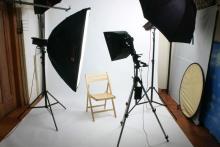 Sala principal del estudio fotográfico