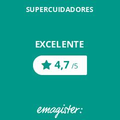 Calificación de SUPERCUIDADORES en Emagister, 4,7 de 5